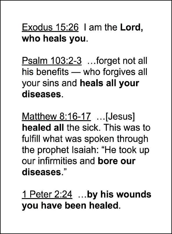 Divine Healing in One Page