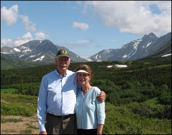 Jim and Mickey Feeney, Anchorage Hillside